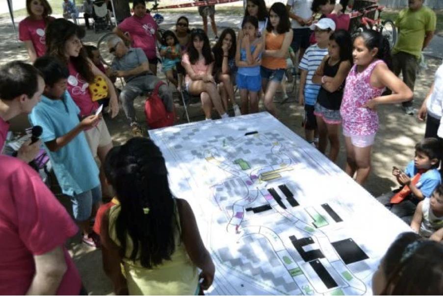 Co-production avec les habitants d'un projet de régénération urbaine dans le quartier Virgen de Begoña à Madrid (source : Paisaje Transversal)