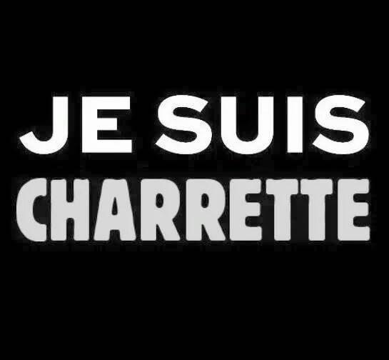 """Reprise du logo """"Je suis Charlie"""" pour symboliser l'expression"""