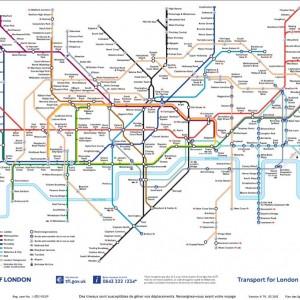 Le Plan du Métro de Londres