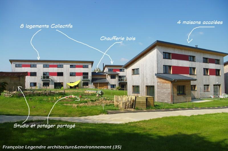 Un exemple d'habitat participatif à Chevaigné en Ille-et-Vilaine (35)