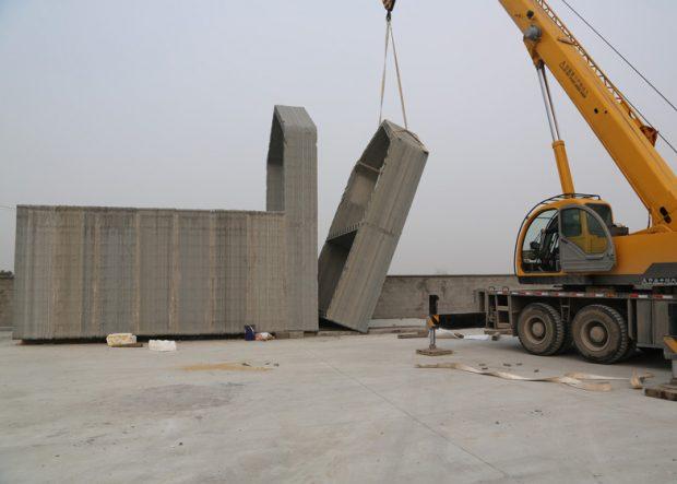 Assemblage d'une structure imprimée en 3D / © Yingchuang New Materials