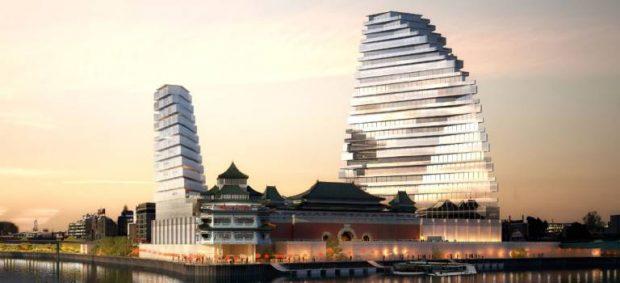 « Perspectives de développement pour le secteur Chinagora » en 2015 a Alfortville portée par le cabinet Jacques Ferrier Architecture et City Linked. Mais il ne s'agit pas du projet définitif. / © JFA - City Linked.