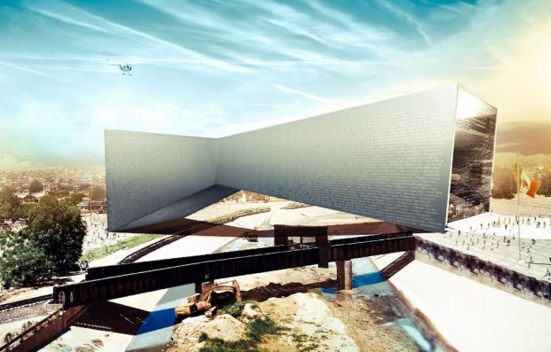 Le projet du Bridging Museum entre Juarez et El Paso, jamais réalisé. / © fr-ee.org