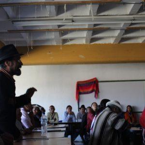 Représentants de communautés indigènes urbaines et rurales et participants à un atelier à « Resistencia HIII », 18.10.2016