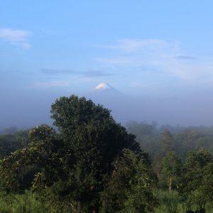 Cime du volcan Sangay depuis Yaku Runa, en Amazonie équatorienne.