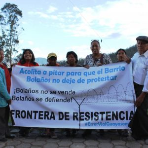 Habitant-e-s de Bolaños en lutte contre le projet qui les affecte