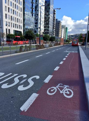 Un réseau de pistes cyclables encore trop peu développé - Oslo