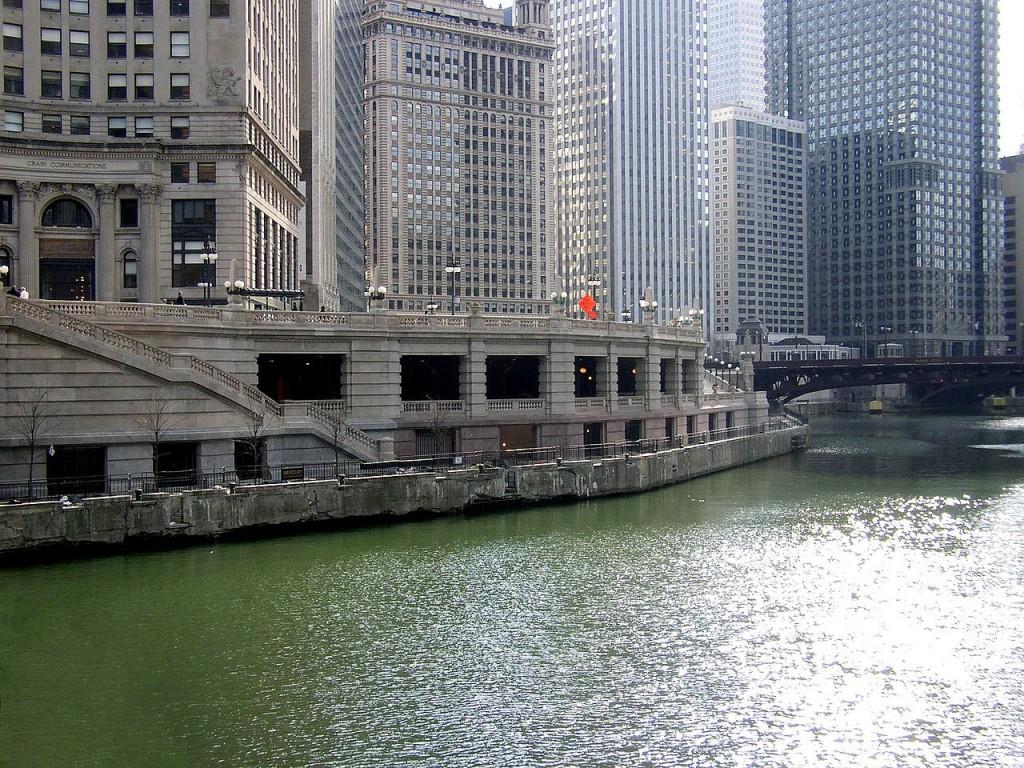 Wacker Drive avant son réaménagement - Chicago