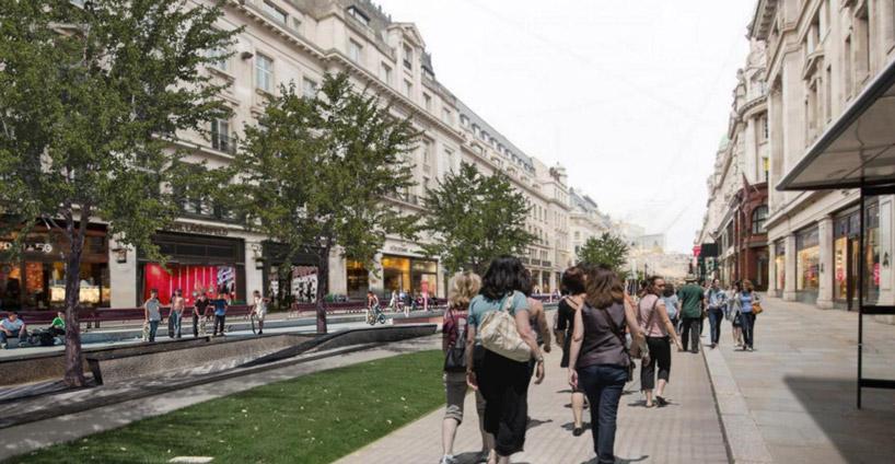 Regent Street - Vision piétonne - Walkable London - Zaha Hadid Architects