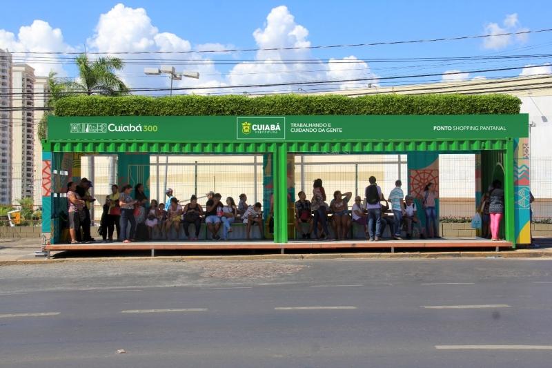 Abribus - Cuiabá - Gustavo Duarte / Prefeitura de Cuiabá