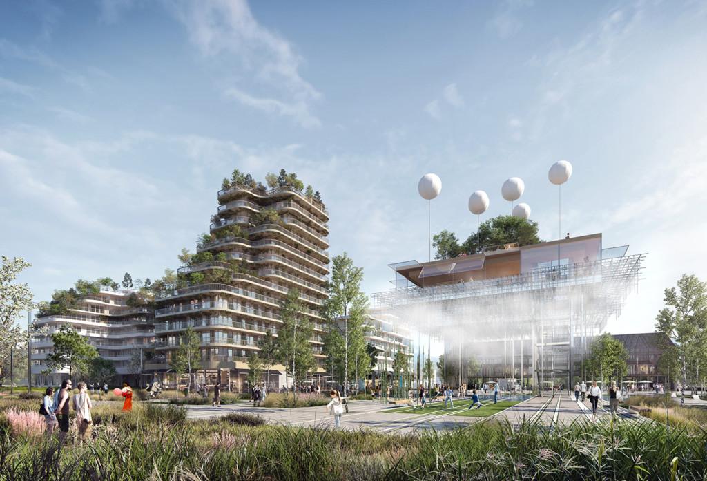 «Inventons la Métropole du Grand Paris 2 / HIGH GARDEN» - Image © YAM Studio, Hamonic+Masson & Associés, XO3D.