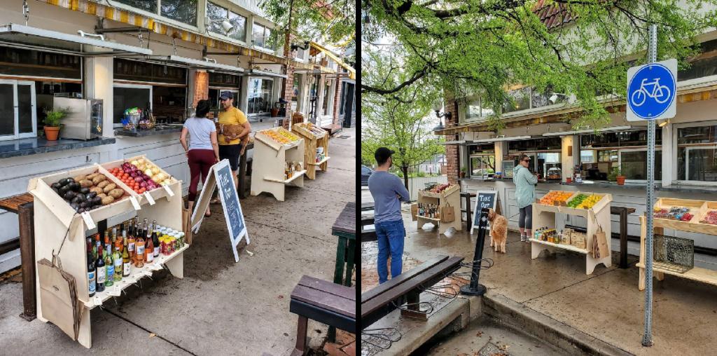 Aider les commerçants à se réapproprier l'espace public - Crédits Better Blocks