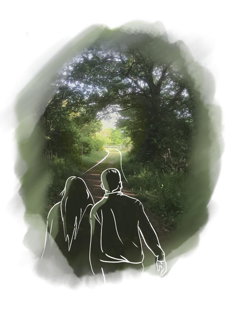 """""""Bordé par la Nature, un côté féérique, au bout le réveil"""" (illustration : N. Henderson)"""
